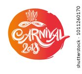 carnival 2018. round seal... | Shutterstock .eps vector #1011260170