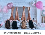 perfect view. playful young...   Shutterstock . vector #1011268963