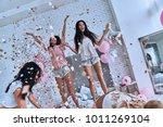 so much fun  four attractive... | Shutterstock . vector #1011269104