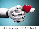 close up of a robot's hand...