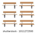 3d rendered bench at different... | Shutterstock . vector #1011272500
