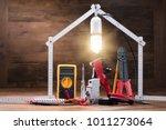 repair tools under the... | Shutterstock . vector #1011273064