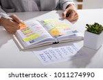 close up of a businesswoman... | Shutterstock . vector #1011274990