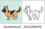 german shepherd dog pet animal... | Shutterstock .eps vector #1011283693