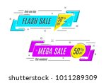 flat linear promotion ribbon... | Shutterstock .eps vector #1011289309