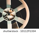 old 8mm film projector playing...   Shutterstock . vector #1011291334