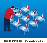 leadership inspection work | Shutterstock .eps vector #1011299053