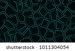 abstract neon background teal... | Shutterstock . vector #1011304054