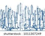 futuristic megalopolis city of... | Shutterstock .eps vector #1011307249