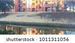 typical riverside apartment...   Shutterstock . vector #1011311056