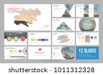 presentation template with... | Shutterstock .eps vector #1011312328