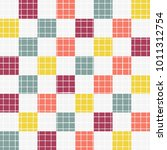 colourful geometric square with ... | Shutterstock .eps vector #1011312754