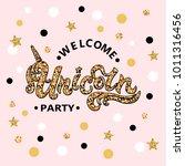 vector illustration welcome... | Shutterstock .eps vector #1011316456