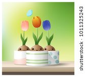 hello spring background with... | Shutterstock .eps vector #1011325243