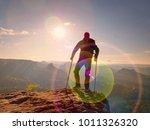be winner. man tourist after...   Shutterstock . vector #1011326320