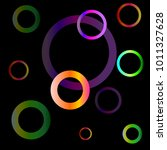 abstract colorful circles with... | Shutterstock .eps vector #1011327628