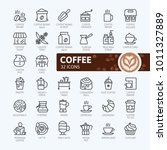 coffee maker  coffee house ... | Shutterstock .eps vector #1011327889
