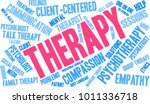 therapy word cloud on a white... | Shutterstock .eps vector #1011336718
