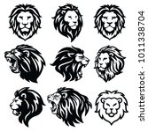 lion logo set. premium design... | Shutterstock .eps vector #1011338704