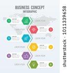 6 steps vertical business...   Shutterstock .eps vector #1011339658