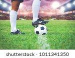soccer or football player... | Shutterstock . vector #1011341350