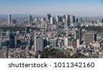 shinjuku skyscrapers area view... | Shutterstock . vector #1011342160