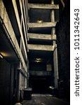 a dark and eerie chicago city... | Shutterstock . vector #1011342643