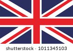united kingdom flag. flag of... | Shutterstock .eps vector #1011345103