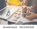 hand for engineer safety for... | Shutterstock . vector #1011345160