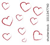 hand drawn vector valentine... | Shutterstock .eps vector #1011347740