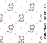 seamless pattern of cute... | Shutterstock .eps vector #1011348178
