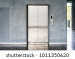 elevator with closed door | Shutterstock . vector #1011350620