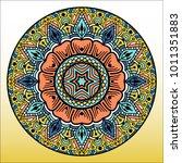 beautiful mandala. round... | Shutterstock .eps vector #1011351883