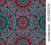 vector seamless pattern ethnic...   Shutterstock .eps vector #1011352174
