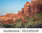 valley of castles on sunset in... | Shutterstock . vector #1011353149