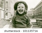 Vintage Photo Of Little Girl...
