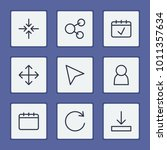 web icons set with share  user...