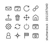 internet icons set with turn... | Shutterstock .eps vector #1011357640