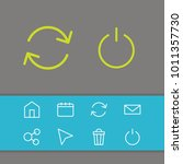 network icons set with turn off ... | Shutterstock .eps vector #1011357730