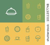 nutrition icons set with meal ...