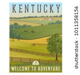 kentucky  united states retro... | Shutterstock .eps vector #1011358156