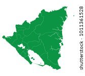 nicaragua map isolated on... | Shutterstock .eps vector #1011361528