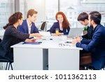 business people team... | Shutterstock . vector #1011362113