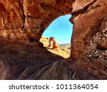 delicate arch from a different... | Shutterstock . vector #1011364054