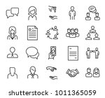 simple collection of head... | Shutterstock .eps vector #1011365059