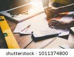 team of engineers working...   Shutterstock . vector #1011374800