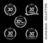 30 years anniversary...   Shutterstock .eps vector #1011377590