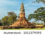 ancient pagoda worship | Shutterstock . vector #1011379393