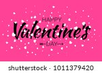 happy valentines day card...   Shutterstock . vector #1011379420
