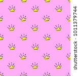 abstract seamless crown pattern ...   Shutterstock .eps vector #1011379744